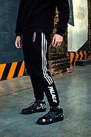Cпортивные штаны в стиле Adidas x Palace черные