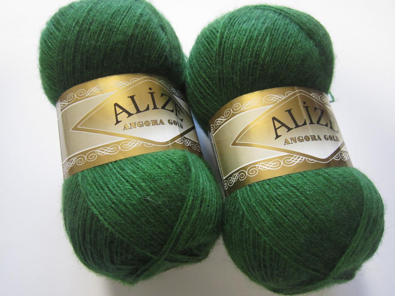 ANGORA GOLD 118 зеленая трава - 20% шерсть, 80% акрил