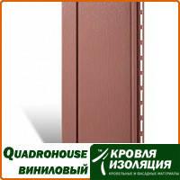 Панель Quadrohouse, виниловый сайдинг, Красно-коричневый; 3,1х0,205м
