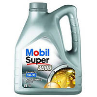 Моторное синтетическое масло Mobil Super 3000 FE 5W-30 4L (ACEA A5/B5, Ford WSS-M2C913-C)