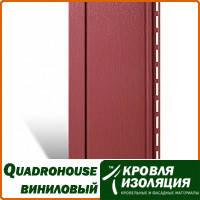 Панель Quadrohouse, виниловый сайдинг, Красный; 3,1х0,205м