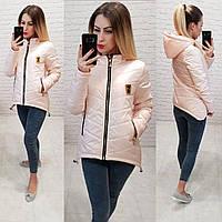 Женская куртка-парка, арт 210/7, цвет топлёное молоко