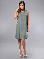 Платье серое, хлопок, Индия, на 44-50 размеры, фото 1