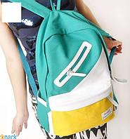 Школьный Молодежный Стильный Рюкзак  В наличии!!Цвет Светло-зелёный+жёлтый Оригинал Фабричный!, фото 1