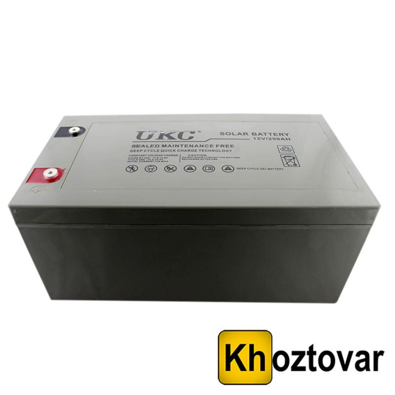 Гелевий акумулятор UKC Battery Gel 12V 250A