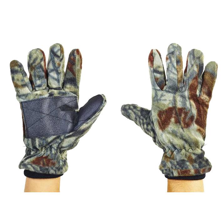 Перчатки двойной флис «Лес» микс