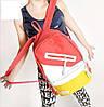 Школьный Молодежный Стильный Рюкзак  В наличии!! Цвет Розовый+Жёлтый,Оригинал,Фабрика!!