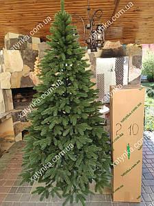 Литая елка Премиум 2.10м.зеленая+гирлянда в подарок.