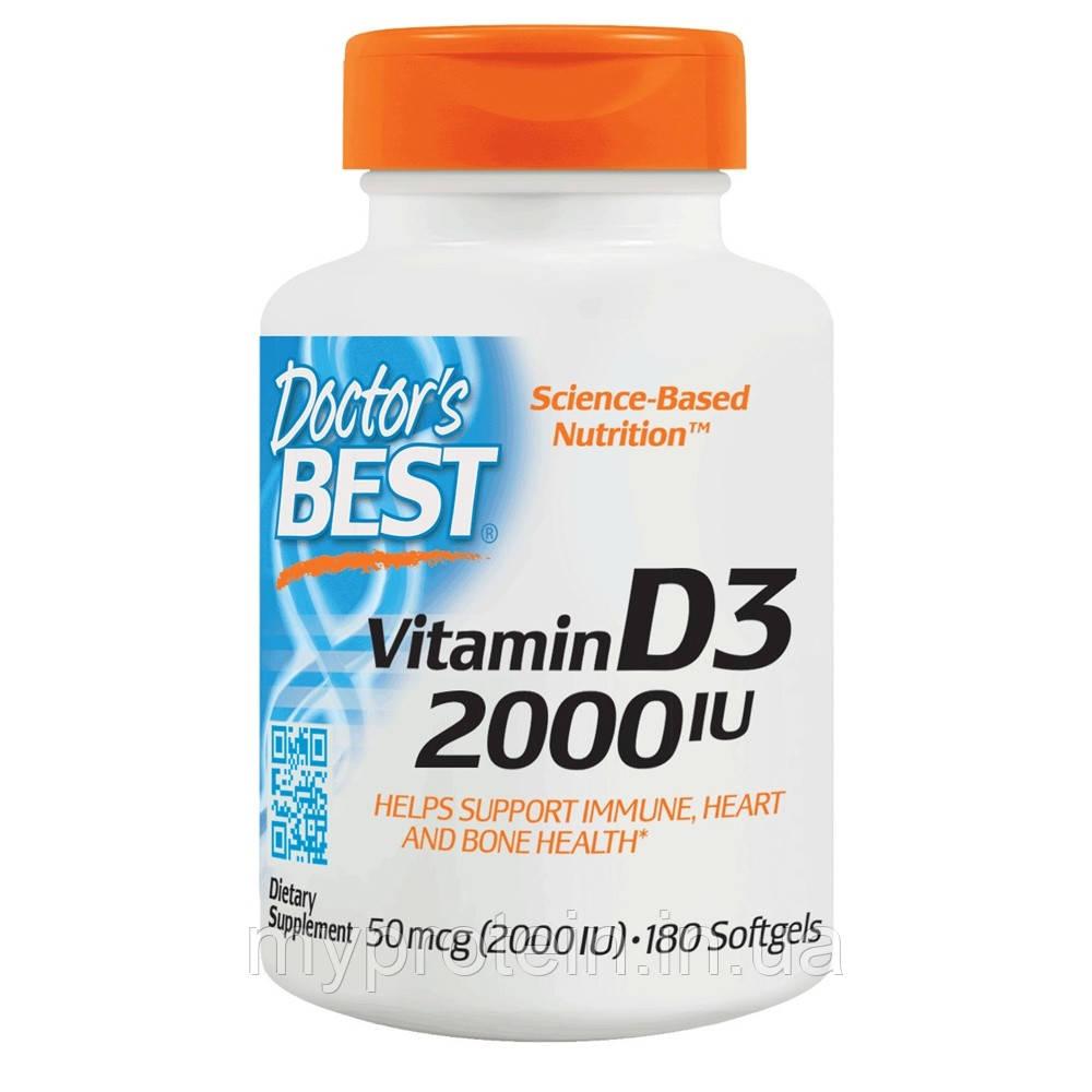 Doctor's BESTВитамины и минералыVitamin D3 2000 IU180 softgels