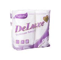 Туалетная бумага ТМ Papirella DeLuxe 4шт. 1/12