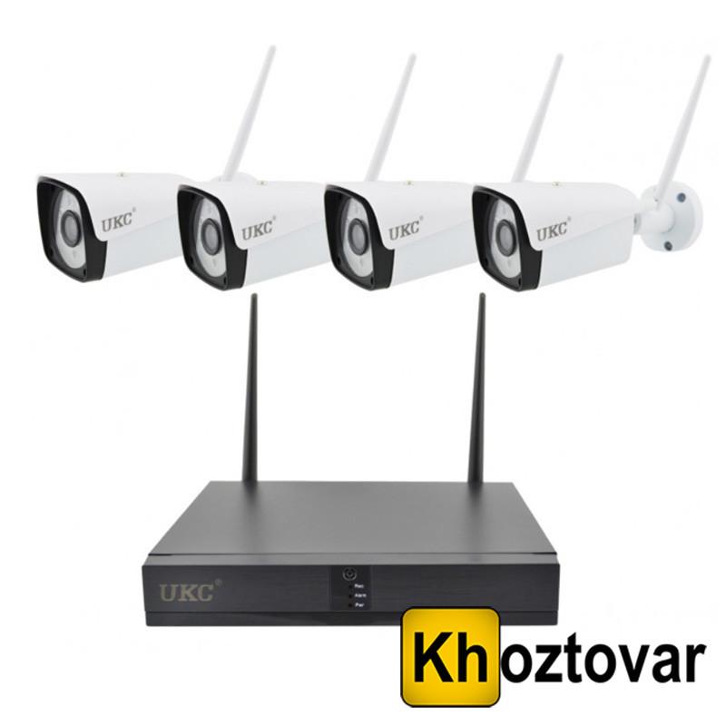 Комплект IP видеонаблюдения на 4 камеры DVR KIT CAD UKC 8004/6673