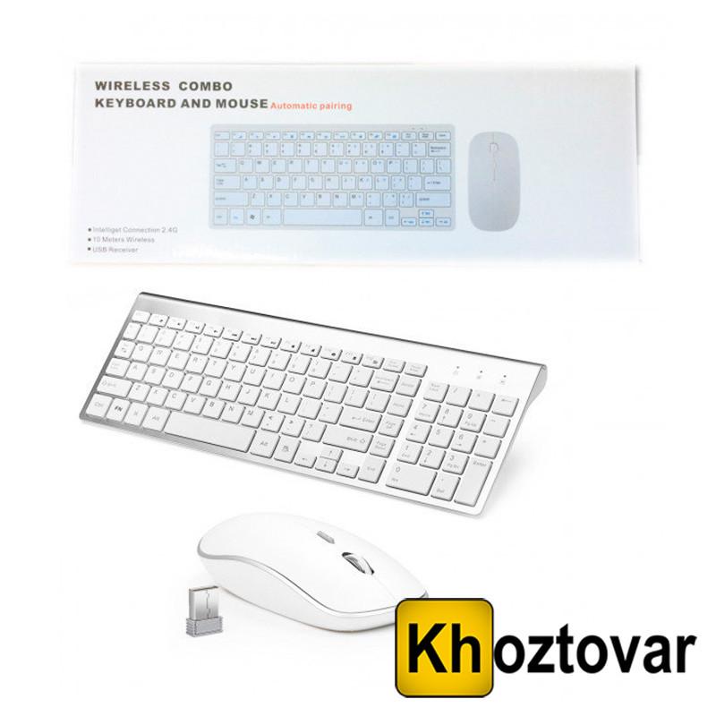 Комплект беспроводная клавиатура и мышка 901 Apple