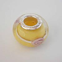 Бусина Pandora (Пандора) в желтом цвете P4260942, фото 1