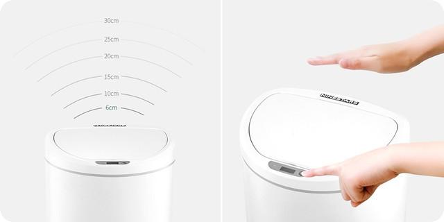 Умное сенсорное мусорное ведро Xiaomi Ninestars Sensor Trash Can DZT-10-29S Белое 10 л