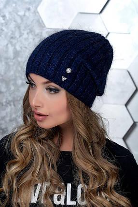 Шапка женская Flirt Мемфис One Size синяя, фото 2