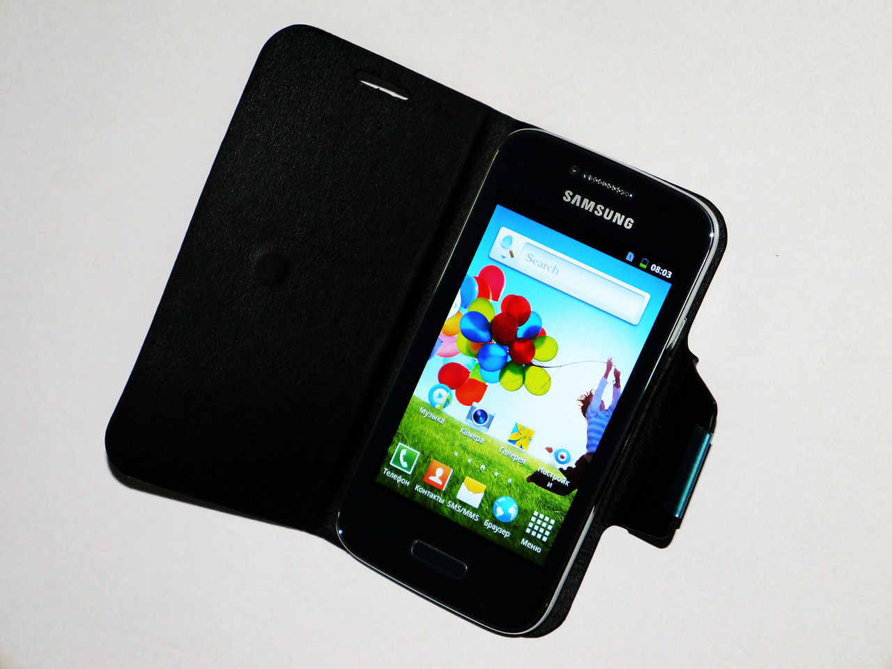 Телефон Samsung Galaxy 9150 - 2Sim + 4'' +Android4