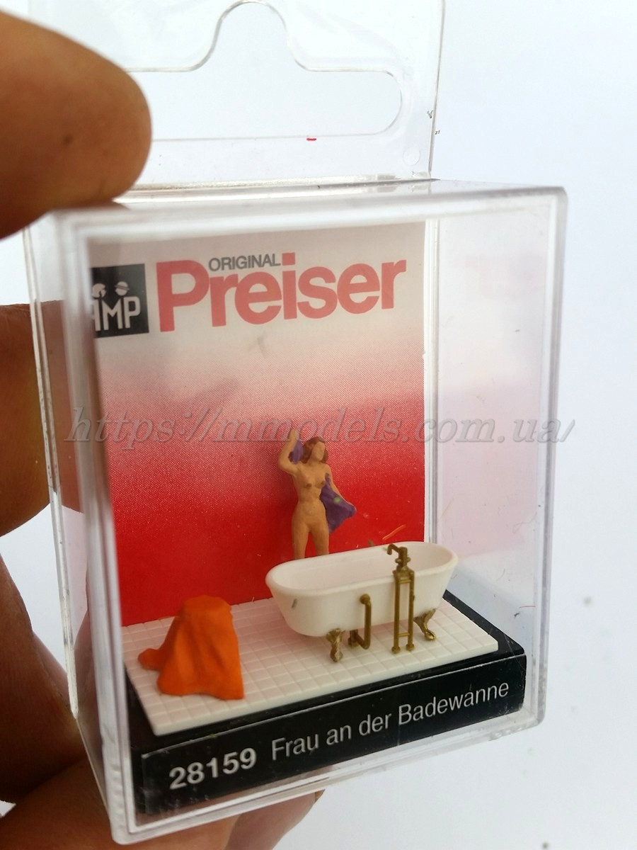 Preiser 28159 Набор Женщина в ванной ( детям закрывайте глаза ! ) 1:87