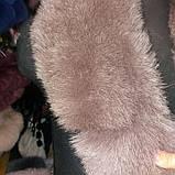 Воротник из шкуры финского песца цвет каппучино длина 90-95 см, фото 3