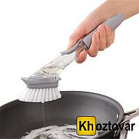 Многофункциональная щетка с дозатором Decontamination Wok Brush