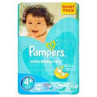 Детские подгузники Pampers Active Baby Maxi Plus 4+, 9-16кг 70шт