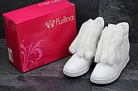 Женские зимние ботинки в стиле Purlina, белые 36 (23 см)