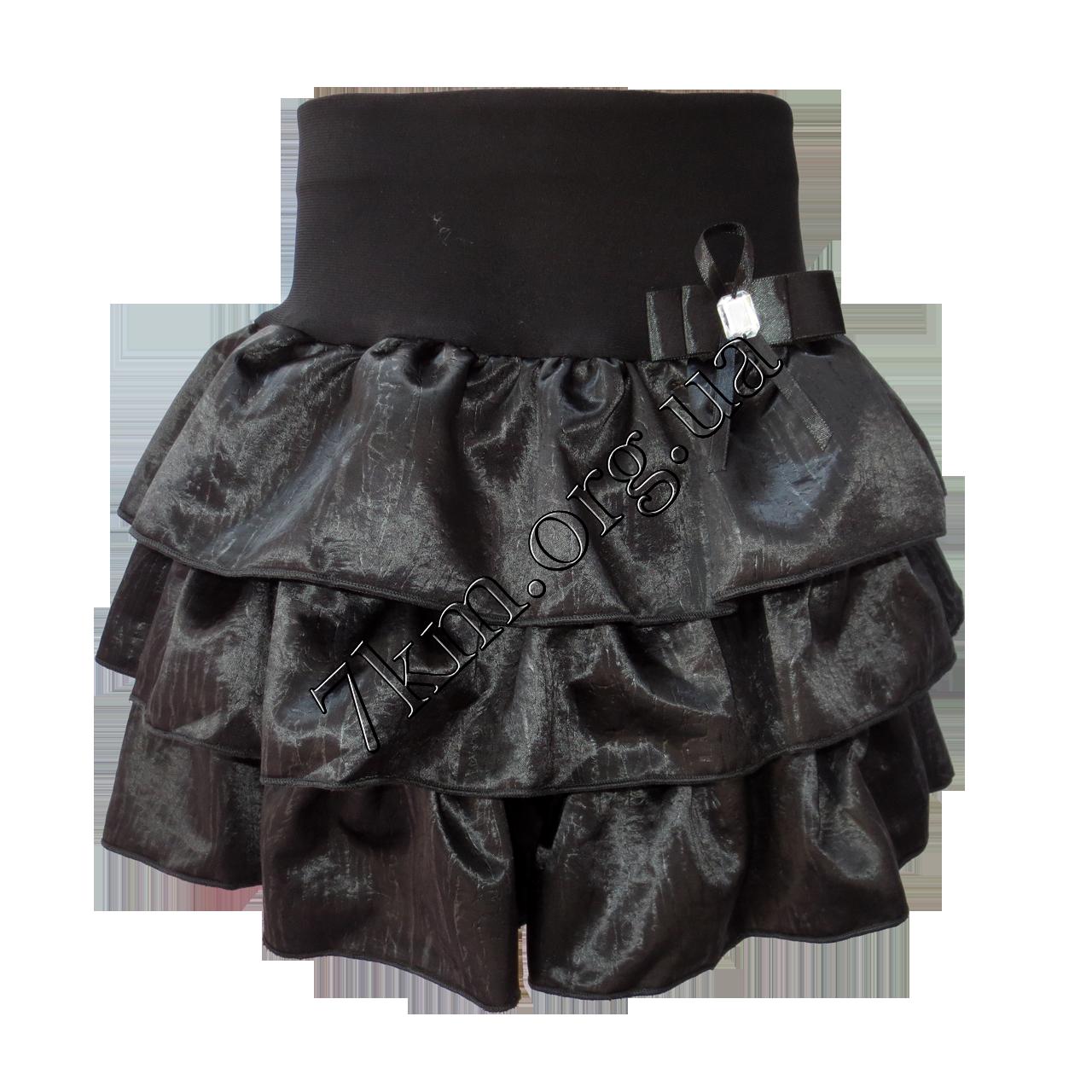 """Школьная юбка детская """"Ламбада"""" 1-4 класс с бледной полоской"""