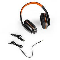 Беспроводные наушники KOTION EACH B3506 (Черно-оранжевый), фото 3