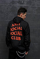 Ветровка Anti social social Club classic черная