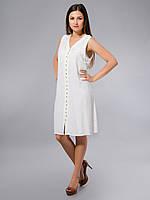 Платье -халат, белое, хлопок, Индия, на 44-52 размеры
