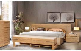 Кровать Амстердам 180х200 с изголовьем (панель массив дуба) ММЦ