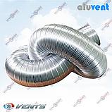 АЛЮВЕНТ М 125 / 1,0 м гибкий алюминиевый воздуховод-гофра для вентиляционных систем, фото 3