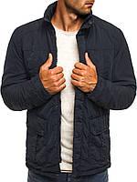 Мужская куртка (весна\осень) - теплая синий