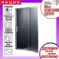 Душевая дверь в нишу 120 см Primera Frame SDP1212 профиль хром, стекло шиншилла