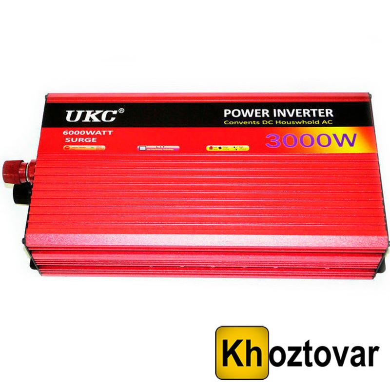 Преобразователь UKC 24В в 220В 3000Вт | Автомобильный инвертор