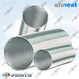 АЛЮВЕНТ М 125 / 3,0 м алюминиевый гибкий воздуховод-гофра для приточно-вытяжной вентиляции, фото 2