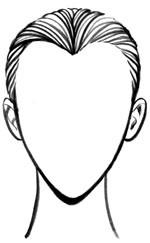 Лицо в форме сердца