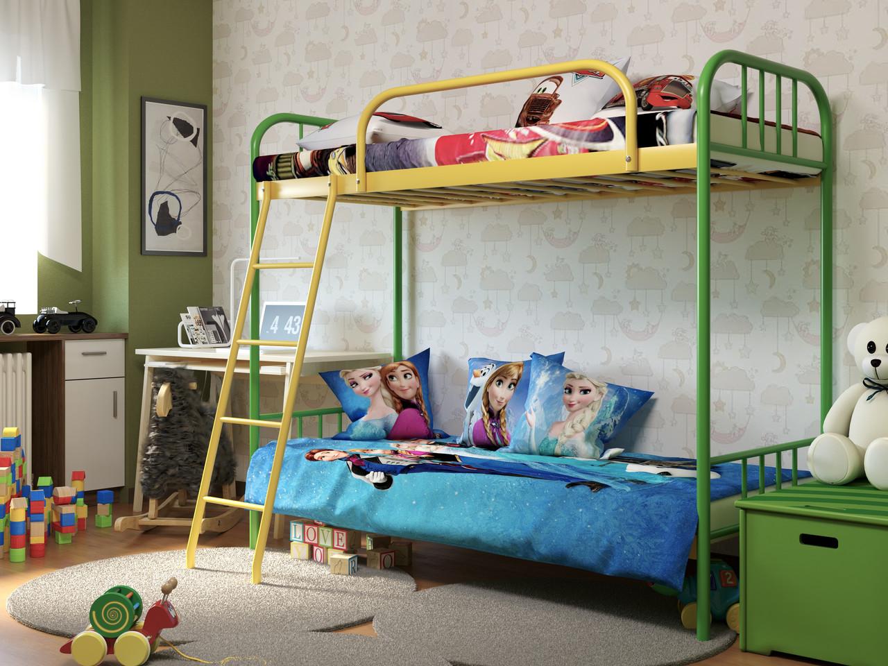 Кровать двухъярусная детская металлическая BABY DUO (Бэби) 140Х60