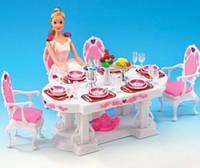 Детская мебель Gloria 2612 для кукол Барби Столовая Обустройте кукольный домик