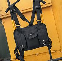 Нагрудная Поясная Сумка Бронежилет City-A Hgul+Bag Big Size Черная