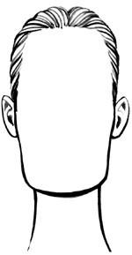 Продолговатая или прямоугольная форма лица