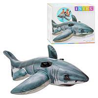 Безобидная акула для весёлого купания Интекс 57525, размеры 1,73*1,07м, с 3х лет, надувные игрушки