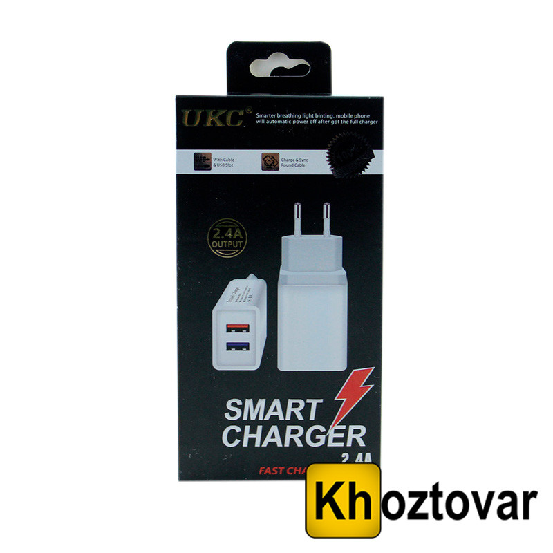 Сетевой адаптер Fast Charge AR 001 2 USB
