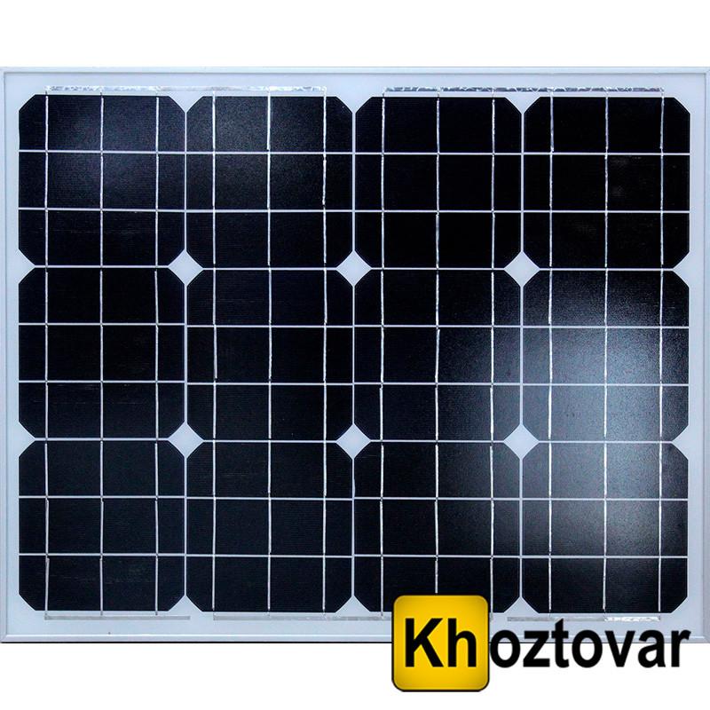 Сонячна батарея Solar board 50W 18V | Сонячна панель 67 х 54 см