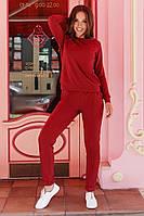 Костюм спортивный женский из двунитки с боковыми карманами (К28866), фото 1