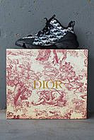 Женские кроссовки Dior D-Connect Sneakers Black & White