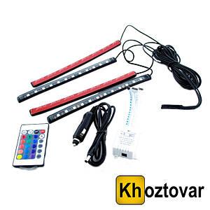Универсальная RGB led подсветка с микрофоном HR-01678 | Светодиодная лента для авто