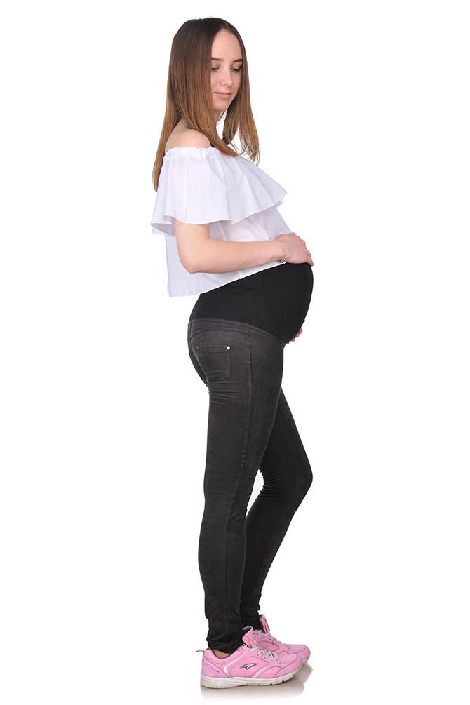 Леггинсы для беременных замш