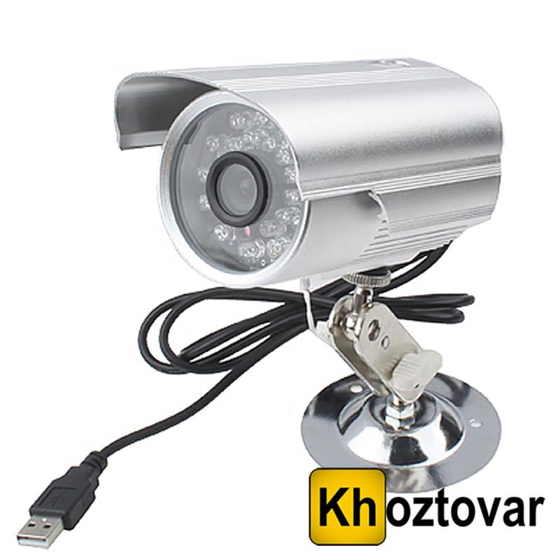 Цветная уличная камера видеонаблюдения с записью на карту памяти