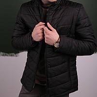 Мужская куртка (весна\осень) - Пуховик черный