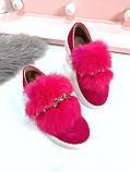 8 цветов! Нереально классные туфли с камнями и натуральным мехом, фото 3